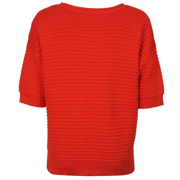 French Connection Womens Red Heatwave Dinka Crepe Jumper main image