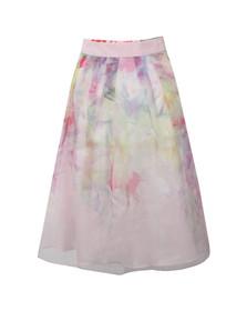 Ted Baker Womens Pink Glenis Hanging Gardens Midi Skirt