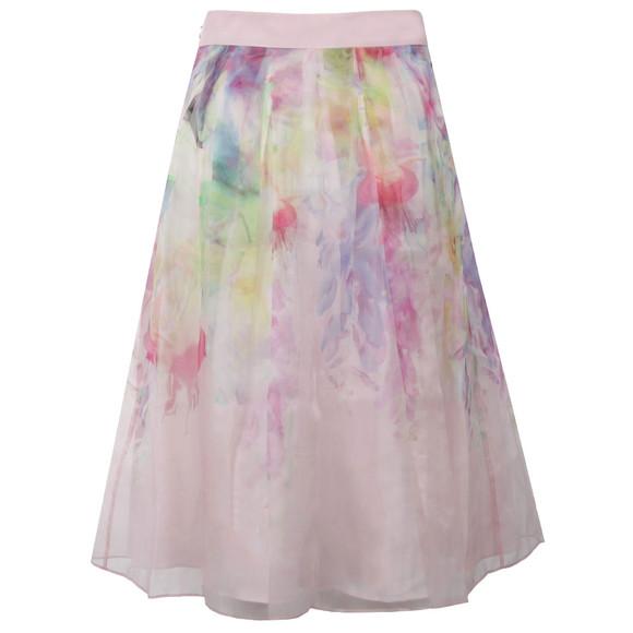 Ted Baker Womens Pink Glenis Hanging Gardens Midi Skirt main image