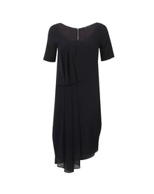 French Connection Womens Blue Florrie Drape Dress
