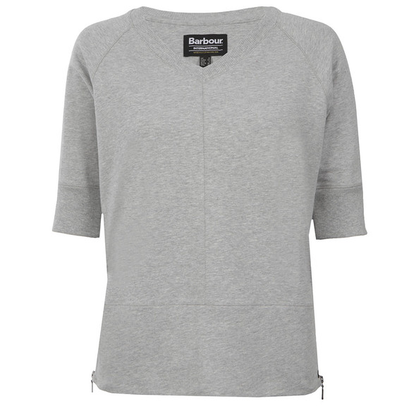 Barbour International Womens Grey Broton V Top main image