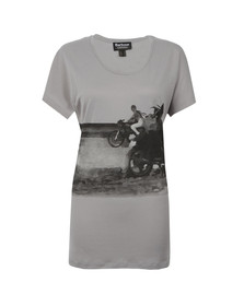 Barbour International Womens Grey Hairpin Tour T Shirt