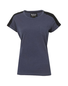 Barbour International Womens Blue Broton Top