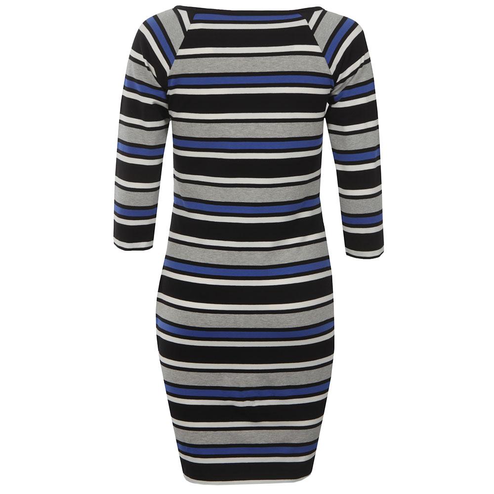 Suo Stripe Square Neck Dress main image