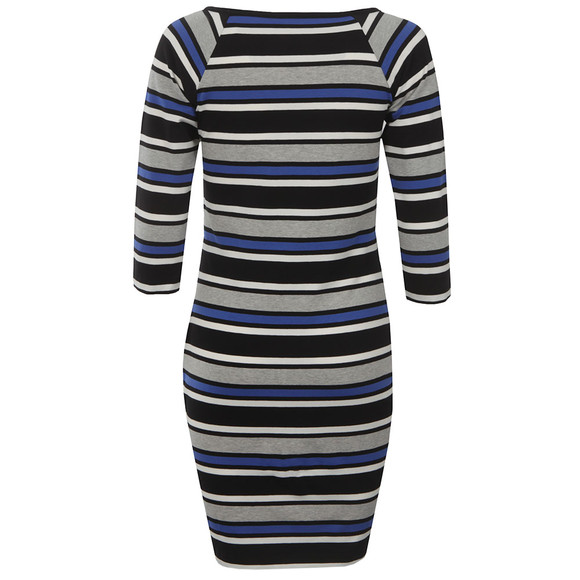 French Connection Womens Blue Suo Stripe Square Neck Dress main image