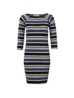Suo Stripe Square Neck Dress