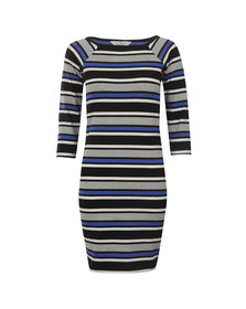 French Connection Womens Blue Suo Stripe Square Neck Dress