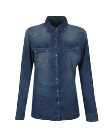 Barbour International Womens Blue Broton Shirt
