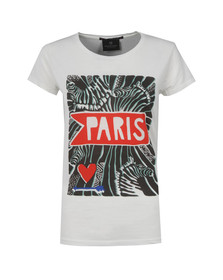 Maison Scotch Womens White Love Series T Shirt
