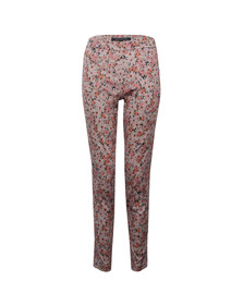 French Connection Womens Pink Bacongo Daisy Cotton Skinny Trouser