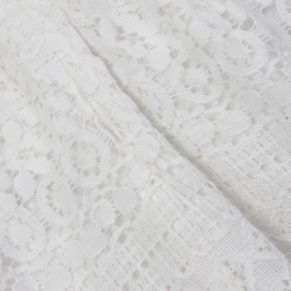 Superdry Womens White Lace Panel Skater Dress main image