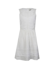 Superdry Womens White Lace Panel Skater Dress