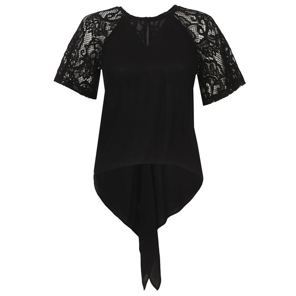 French Connection Womens Black Taza Lace Top main image