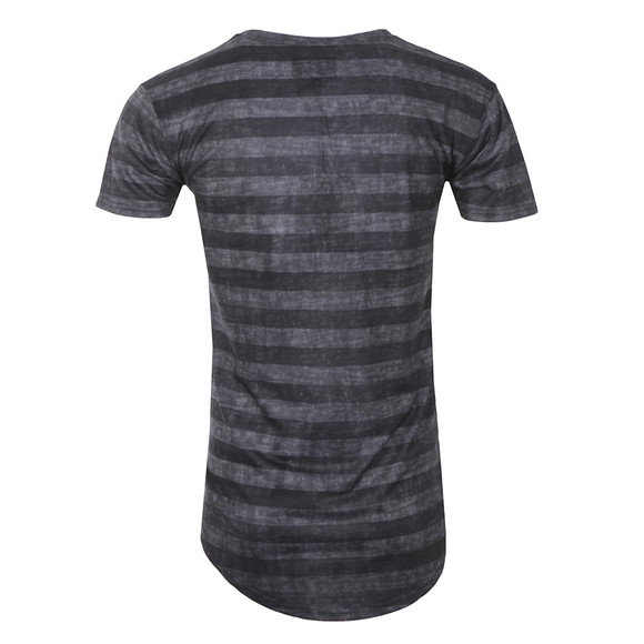 Illusive Mens Grey Curved Hem Burn Out T Shirt main image