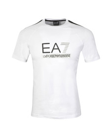 EA7 Emporio Armani Mens White Train Evolution T Shirt