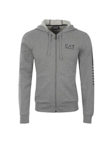 EA7 Emporio Armani Mens Grey Train 7 Lines Lightweight Hoody