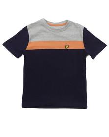 Lyle And Scott Junior Boys Blue Boys Block Colour T Shirt