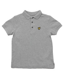 Lyle And Scott Junior Boys Grey Classic Plain Polo Shirt