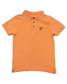 Lyle And Scott Junior Boys Orange Classic Tipped Polo Shirt