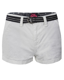 Superdry Womens White International Holiday Hot Short