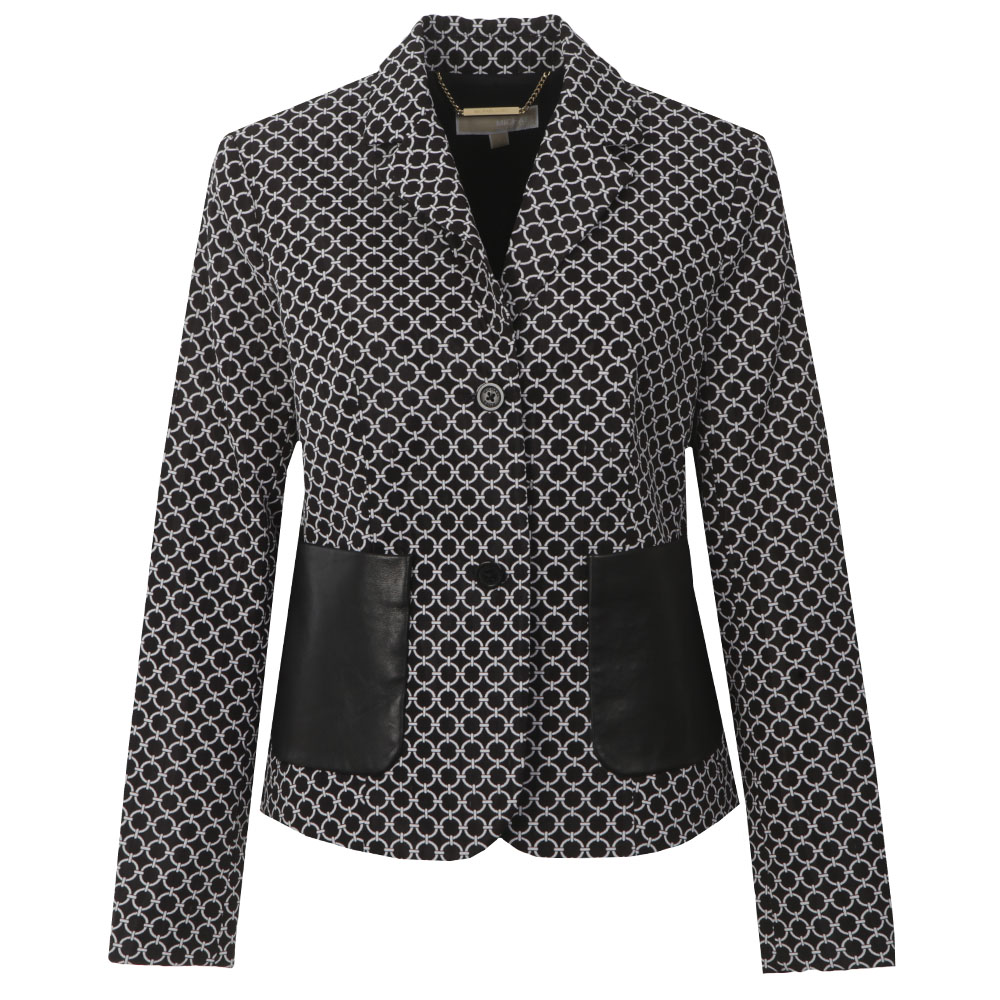 2 Button Patterned Blazer main image