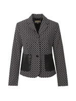 2 Button Patterned Blazer
