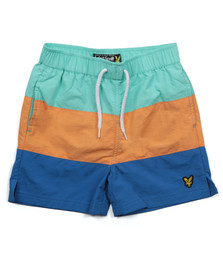 Lyle And Scott Junior Boys Green Cut & Sew Swim Shorts