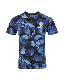 Franklin & Marshall Mens Blue Allover Flower Print T Shirt
