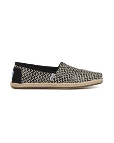 Toms Womens Black Woven Espadrille
