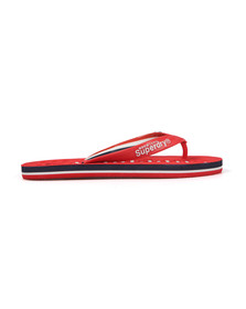 Superdry Mens Red Track & Field Flip Flop