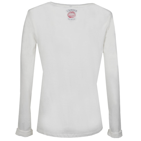 Maison Scotch Womens Off-white Long Sleeve French T Shirt main image