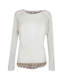 Maison Scotch Womens Off-white Long Sleeve Jersey T Shirt
