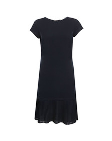 Michael Kors Womens Blue Pleat Hem Dress