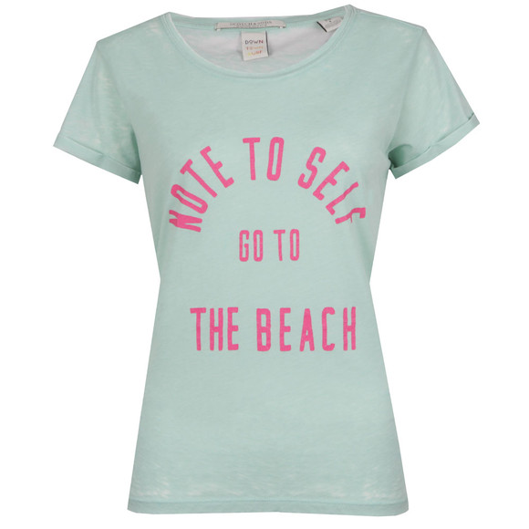 Maison Scotch Womens Green Beach Burn Out T Shirt main image