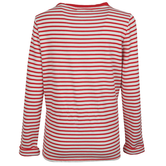 Maison Scotch Womens Red Long Sleeve Stripe Sweat main image