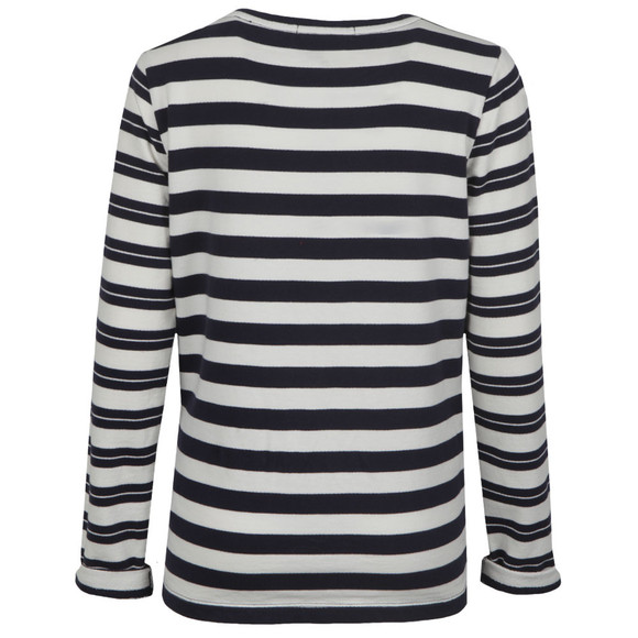 Maison Scotch Womens Blue Long Sleeve Stripe Sweat main image