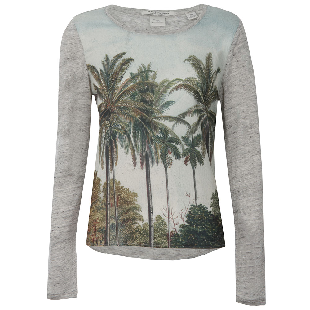 Long Sleeve Printed Top main image