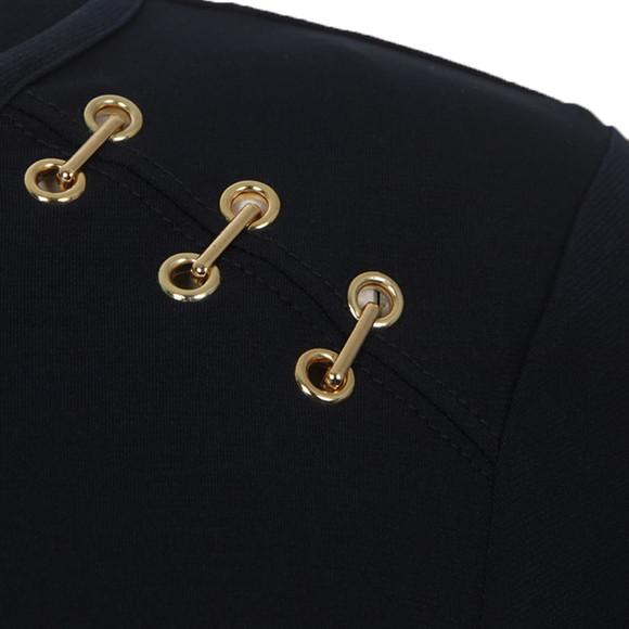 Michael Kors Womens Blue Metal Trim Long Sleeve Top main image