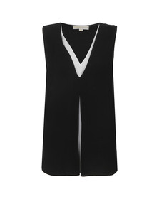Michael Kors Womens Black Double Layer Tank