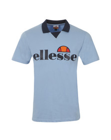 Ellesse Mens Blue Sarzana Jersey Polo Shirt