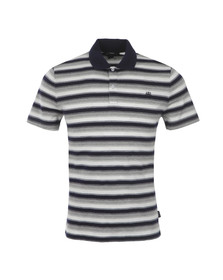 Aquascutum Mens Grey Horley Striped Polo Tee