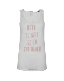 Maison Scotch Womens Off-white Burnout Beach Tank