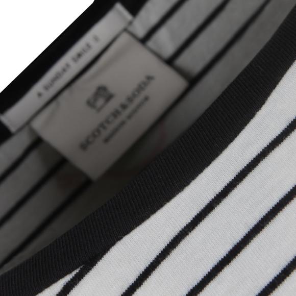 Maison Scotch Womens Off-white Long Sleeve Travel T Shirt main image