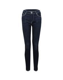 True Religion Womens Blue Mid Rise Halle Super Skinny Jean