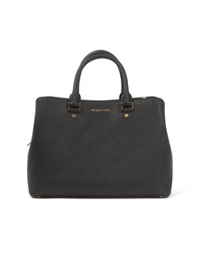 Michael Kors Womens Black Savannah Large Satchel