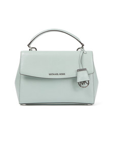 Michael Kors Womens Green Ava Small Satchel