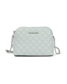 Michael Kors Womens Green Cindy Quilted Dome Crossbody Bag
