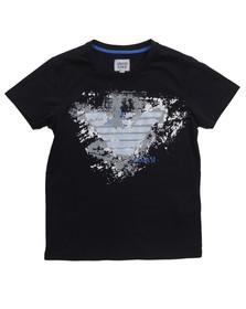 Armani Junior  Boys Blue C4H12 Logo T Shirt