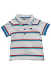 Armani Baby Boys White CDF05 Stripe Polo Shirt