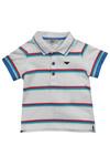 Armani Baby Boys White CDF05 Stripe Polo Shirt